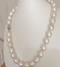 Classic 13-14mm south sea baroque white pearl necklace 20inch