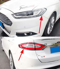 Front Head Rear Tail Light Lamp Cover Trim for 2013 2014+ Ford Mondeo Fusion