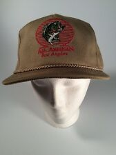 "Bass Fishing, ""All American Bass Anglers"", Vintage Trucker Hat, Mesh Back, Tan"