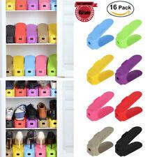16Set Shoe Slots Space Saver Easy Shoes Organizer Plastic Rack Storage Holder