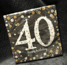 Papierservietten zum 30 33x33cm Geburtstag i 16er Pck schwarz-silber