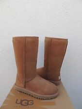 UGG CHESTNUT CLASSIC TALL SUEDE/ SHEEPSKIN BOOTS,  WOMENS US 5/ EUR 36 ~NEW