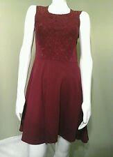 JOLT Maroon Lace Top High Low  Dress~Size M