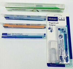 Lot 5 Dog & Cat VIRBAC C.E.T. & ENZADENT Pet Toothbrushes ~ New!