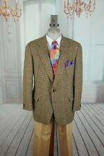 Daks Classic Men's Brown Red Blue & Green Wool Sport Coat Blazer 44R 44 R