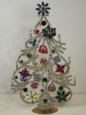 Christbaum Aufsteller Weihnachtsbaum Christmas tree Strass Gablonz  Böhmen 28cm