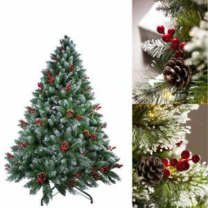 Künstlicher Christbaum Weihnachtsbaum Tannenbaum + Beleuchtung LED 150 180 210cm