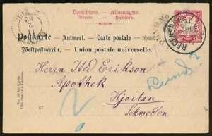 Bayern Ganzsache P 24 I/02 w A gebraucht REGENSBURG n. HJORTAN, Schweden (66730)