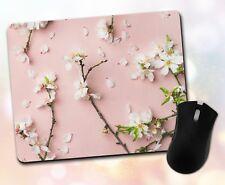 Flower Mouse Pad • Cherry Blossom Petals Nature Gift Decor Desk Accessory