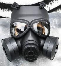 Matte Black Full Face Steampunk BIO-HAZARD Post Apocalyptic Gas Mask