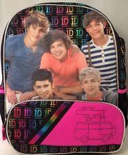 "New 1 Direction Bag 1D BOOKBAG BACKPACK Black 16"" Niall, Harry, Zayn, Liam, Loui"
