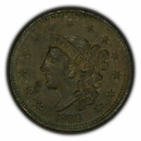 1838 1c Coronet Head Large Cent - High-Grade XF/AU Coin - SKU-Y2630