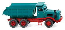 Tombereau (kaelble) Bleu eau 1962 Wiking 086634 Échelle H0 1 87 Camion Modèle