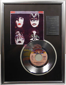 "KISS I was made for lovin you 7"" Platin Schallplatte Casablanca Record (goldene)"