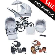 Baby Pram Stroller Buggy Pushchair Classic Retro 3in1 Travel system car seat NEW