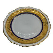 royal bavarian china Gold Encrusted Dessert Plates Set Of Four.