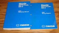 Original 2003 Mazda MX-5 Miata Shop Service Manual + Wiring Diagram Set 03