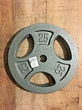 """Cap SINGLE 25lb Weight Plate Iron Standard 1"""" Inch Hole Barbell Dumbbell"""