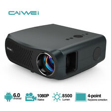 New listing 10000:1 Native 1080P Android Projector 4K Video Led Zoom Blue-tooth Home Cinema