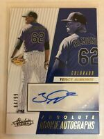 Yency Almonte 2019 Panini Absolute Rookie Autographs Auto RC #D /99 Rockies SP