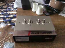 knightsbridge  4 Gang Toggle Switch,1or 2 Way 10 Amp Pearl nickel flat plate
