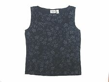 Chico's Design Traveler's Black Print Knit Top Blouse Shirt 2 T-shirt