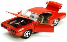 PONTIAC GTO JUDGE 1969 1:24 Scale Diecast Car Model Die Cast Miniature Orange