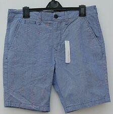 "Red Herring Mens Gents Light Blue Shorts Uk Waist 34"" Inside Leg 9"" 4 Pockets"