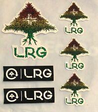 LRG Lifted Research Group 6 Sticker Lot Skate Clothing Decals