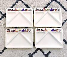 Vintage 1987 McDonald's Kids Meal Hard Plastic Compartment Trays Set of 4