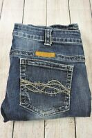 Cowgirl Tuff Jeans 'Dark Don't Fence Me In' 32 x 35