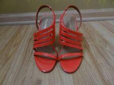Calvin Klein orange Strappy High Heels Sandals shoes size 7