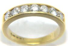Ladies/womens, 18ct gold half eternity ring set with 7 diamonds, UK size J 1/2