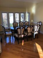 Dining Room Set Table And 8 Chairs