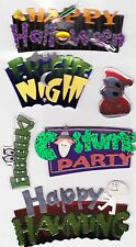 Jolees's Boutique Dimensional Halloween Stickers ~SPOOKY SIGNS ~ Papercrafts