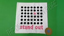 """Pottery Barn Teen Stand Out Eco Message Pillow Cover 18"""" Organic Dots Black Pink"""
