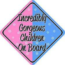 Incredibly Gorgeous Children on Board Car sign
