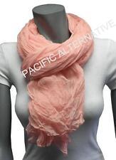 Foulard Rose clair grand gros 110x170 femme mixte chale echarpe NEUF scarf pink