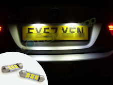 LED Rear Number Plate Bulbs Lights Replace Spare Part Fiat Punto Mk1 Mk2 93-06