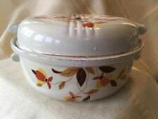Vintage Hall's Jewel Tea China Autumn Leaf 2 Qt. Casserole Dish with Lid