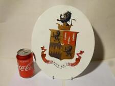 c1820 Admiral Hon Josceline Percy CB MP Armorial Porcelain Bespoke Wall Plaque