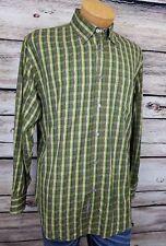 Bugatchi Uomo Mens Dress Shirt Circles Diamonds Checks Green Blue Pink Large