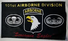 3x5 Black Army 101st Airborne Division Screamin Eagles Flag 3'x5' house banner