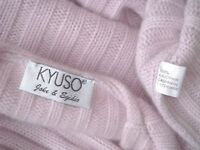KYUSO 100% CASHMERE KASCHMIR *LUXUS-PULLOVER *DICK* Gr. L 42,44  MADE IN ITALY