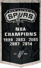 San Antonio Spurs NBA Championship Flag 3x5 ft Vertical Sports Banner Man-Cave