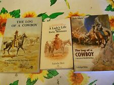 ISABELLA BIRD LADY'S LIFE IN THE ROCKY MOUNTAINS + 2 ANDY ADAMS LOG OF A COWBOY