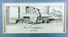 Orig. Kupferstich DER TUCHSCHERER E.Eichel n. C.Erhart, um 1780 Textil Schneider
