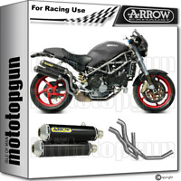 ARROW 2 LIGNE COMPLETE RACE ROUND-SIL CARBON DUCATI MONSTER S4R 2005 05 2006 06