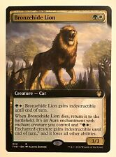 Bronzehide Lion Extended / Frameless Art! Theros Magic Trading Card