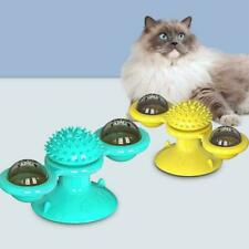 1Pc Cat Turning Windmill Turntable Tickle Cat Toy Brush Pet Accessories Gifts